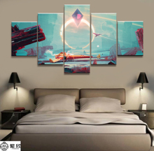 Hot Sales Without Frame 5 Panels Picture No Mans Sky Game Canvas Print Painting Artwork Wall Wholesale