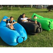 Blue Air, Inflatable Beanbag Sofa Chair, Living Room Bean Bag Cushion, Outdoor Self Inflated Beanbag Comfortable Furniture