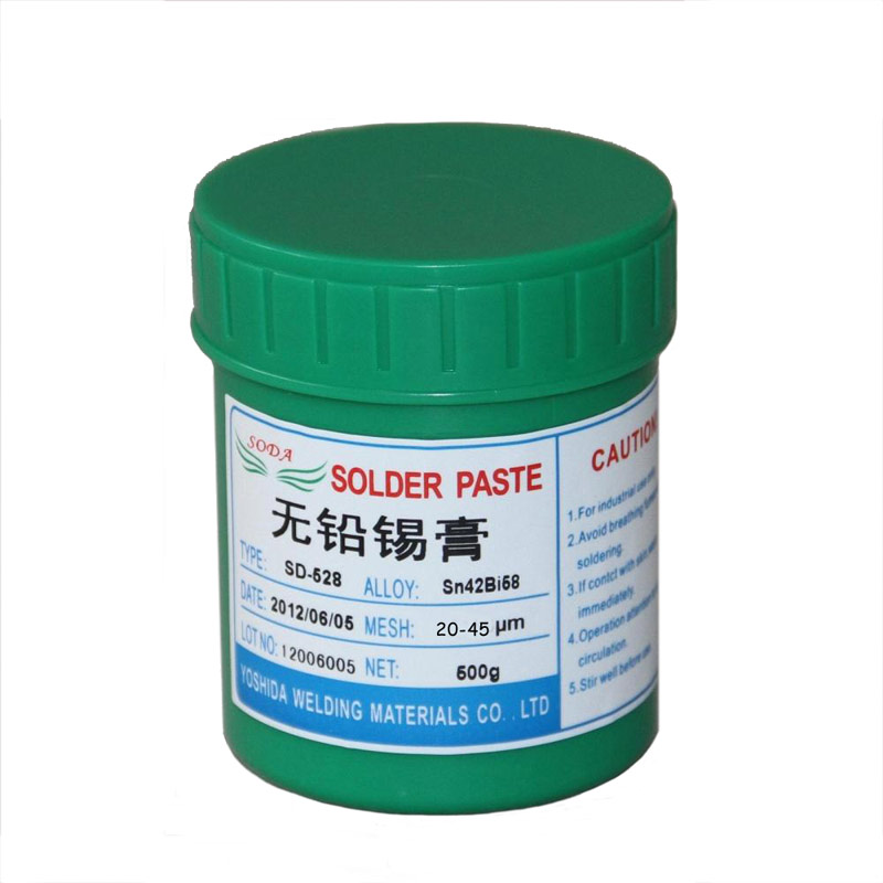 high quality fresh SD-528 low temperature SMT Lead-free SMT Solder Paste 500g Sn42Bi58 for BGA soldering paste solder SMT