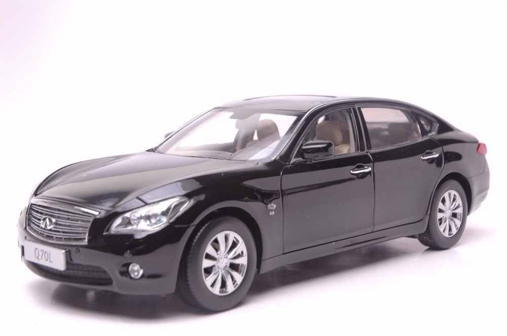 1:18 Diecast Model for Infiniti Q70L 2014 Black SUV Alloy Toy Car Miniature Collection Gift Q70 G37 игрушка rastar infiniti g37 coupe 1 24 27900