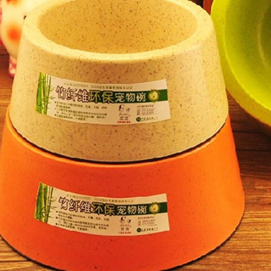 Fiber De bambou Général Chiens Bol Écologique Bol D'eau Chien Platon Para Perro Alimentaire Outil Plaque Animaux D'alimentation Petites Fournitures 50Z0693