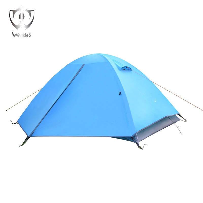 Wnnideo Double Layer Waterproof Tent for 2 Person Outdoor Activities Camping Hiking with Aluminum Poles wnnideo double layer 2 person 4 season aluminum rod outdoor camping tent dome tents topwind 2 plus with snow skirt