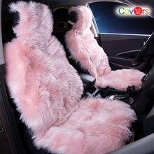 COVERS 2 pcs/set Long Faux Fur Seat Cover, Universal Artificial Plush Car Covers, 9 Color Cute Cushion LFFS02