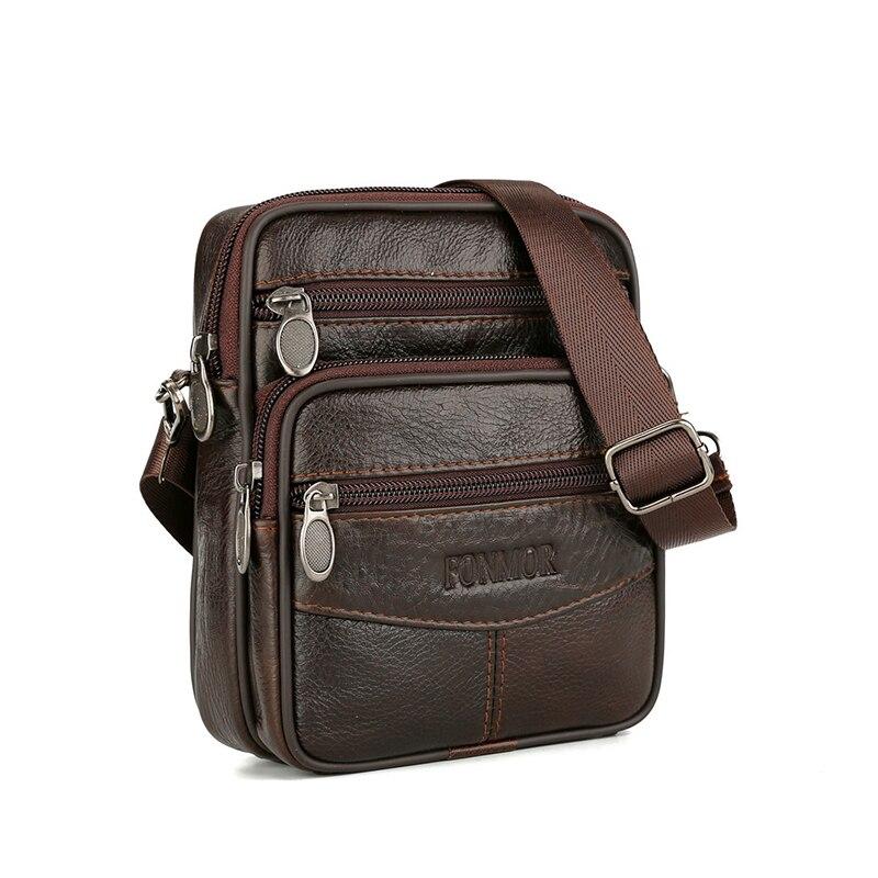 620.47руб. 49% СКИДКА|Винтажные кожаные сумки для мужчин, сумка Кроссбоди из натуральной кожи, мужская повседневная сумка на одно плечо, Мужская маленькая сумка мессенджер|  - AliExpress