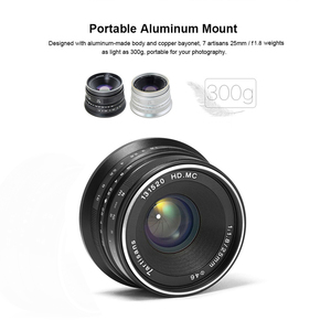 Image 5 - 7artisans 25mm F1.8 Prime Lens to All Single Series for Sony E Mount Fuji M4/3 Cameras A6600 A6500 A7III A7RIV X A1 X A2 G1 G2