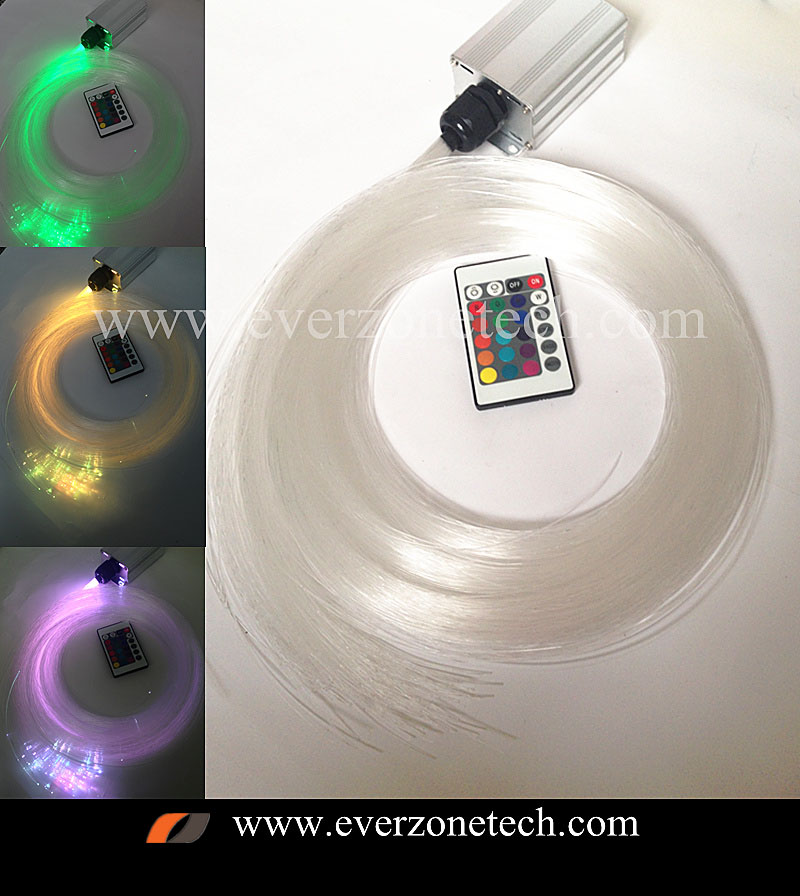 5w RGB LED Fiber Optic Star Sky Ceiling Kit Light 200pcs 0.75mm 2m with Remote Controller5w RGB LED Fiber Optic Star Sky Ceiling Kit Light 200pcs 0.75mm 2m with Remote Controller
