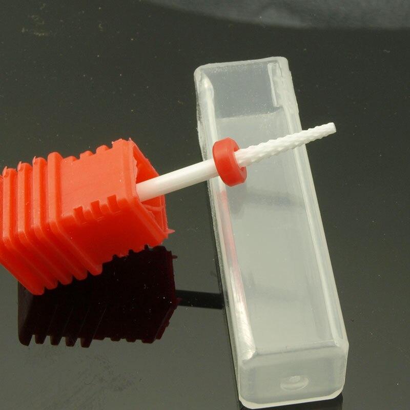 EasyNail New High quality Ceramic Nail drill bit Cuticle Clean Nail tools 332 Nail File Good used Cuticle Nozzle bits M shape