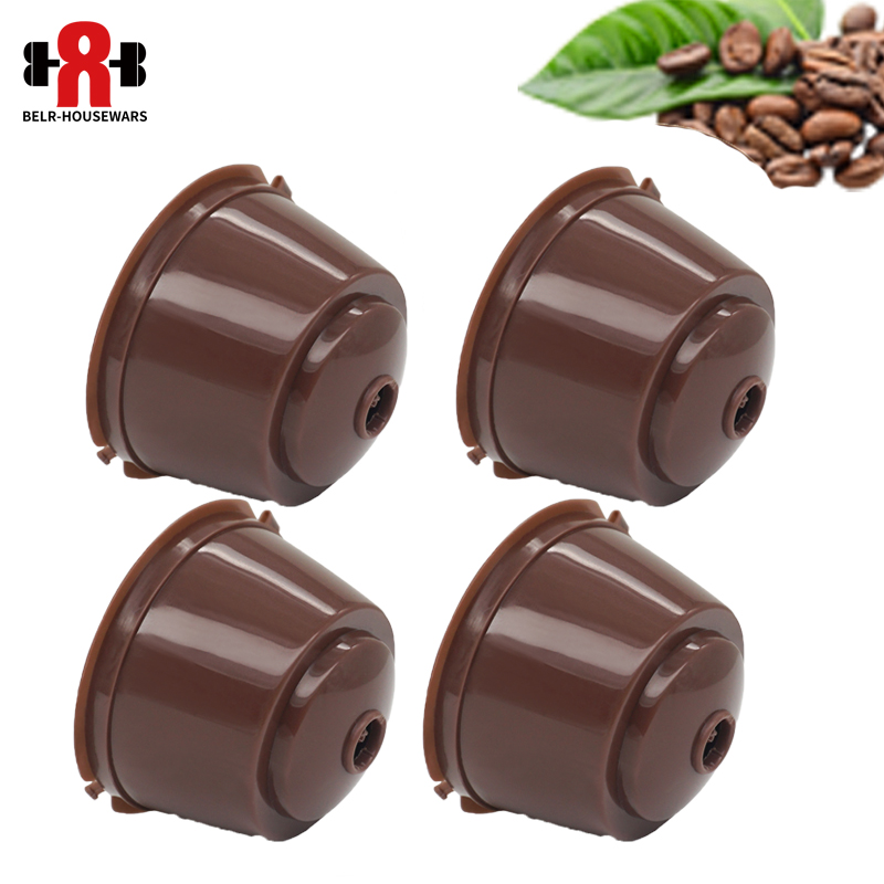 3/4/5/6pcs/lot Refillable Dolce Gusto Reusable  Coffee Capsule Coffee Compatible Nescafe Machine Dolce Gusto Coffee Capsules