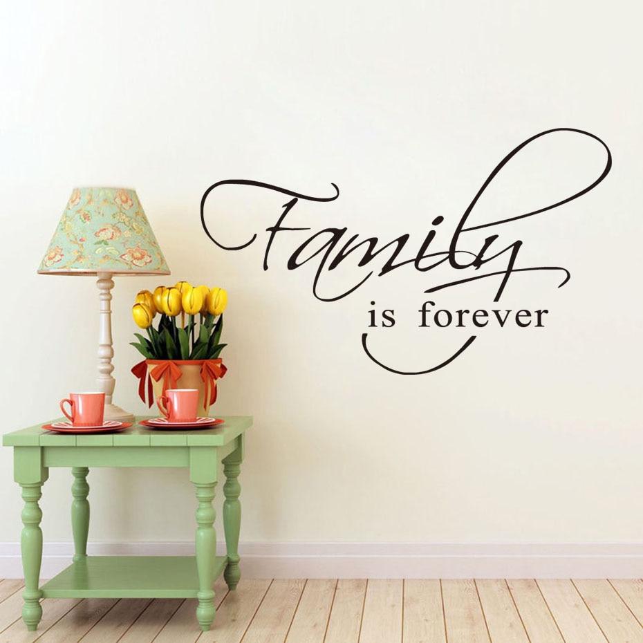 Woondecoratie Verwijderbare Behang Voor Woonkamer Familie Is Forever Vinyl Muursticker Art Muurschildering Decals Voor Slaapkamer Goederen Groothandel