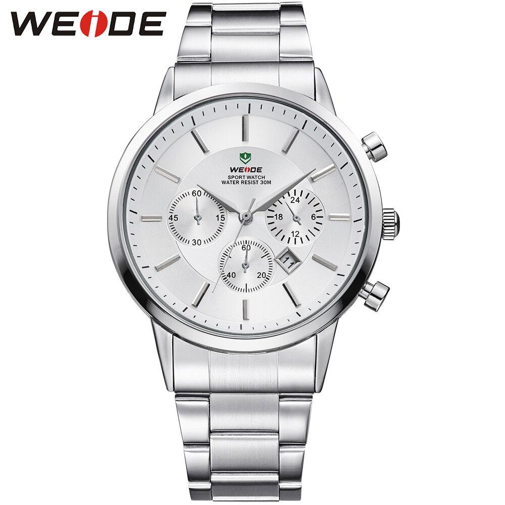 GAGA! WEIDE Watches Men Quartz Sports Watch Diver Luxury Brand Full Steel Complete Calendar Wristwatches Relogio Masculino