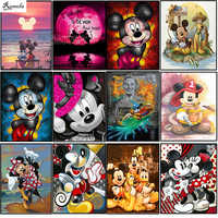 Full Round/square Cartoon Mouse 5D DIY diamond painting embroidery pattern 3d cross stitch kits wedding room decor