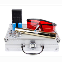 High Power 2W Lengthen Blue Laser Pointers 450nm Lazer sight Flashlight Burning Match/Burn cigars included 18650 battery