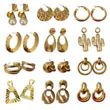 Neatear 2019 Fashion Trendy Golden Geometric earrings Dangle Earrings Drop Earing modern Jewelry Instagram Internet celebrity