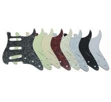 High quality 8 different colors 3 Ply Jimi Hendrix Strat Guitar Pickguard Reverse Bridge for Stratocaster