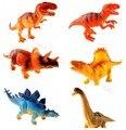 2015 новый высокое качество 12 см 6 шт./упак. небольшой моделирование пвх пластиката динозавры животных модель игрушки классические игрушки подарки для детей мальчиков