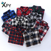 XPY Fashion Women Blouses Female College Style Plaid Shirt Long Sleeve Flannel Shirt Plus Size