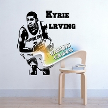 Free mail diy Cleveland Cavaliers basketball star sticker wallpaper Kyrie Lrving wall stickers the sitting room