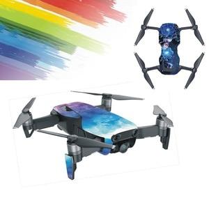 Image 3 - Huid Multi color Waterdicht Stickers Decals Pvc Cover Protector Voor Dji Mavic Air Drone Body Onderdelen Accessoire
