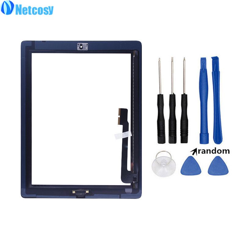 Netcosy Black / White Touch screen glass digitizer Panel Repair parts For ipad3 A1403 A1416 A1430 Tablet Touchscreen For ipad 3Netcosy Black / White Touch screen glass digitizer Panel Repair parts For ipad3 A1403 A1416 A1430 Tablet Touchscreen For ipad 3