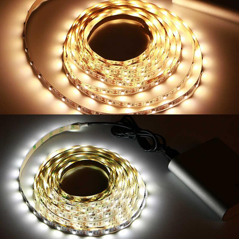 Tira de Led Usb 5v No impermeable blanco cálido/Blanco/RGB 3528SMD aplicable para decoración de automóviles y bicicletas o iluminación de contorno