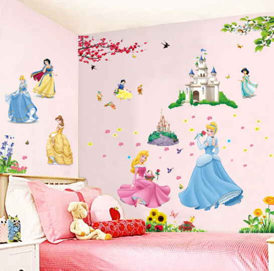 Barbie princess angel wall sticker new pvc home decor kids for Barbie wall mural