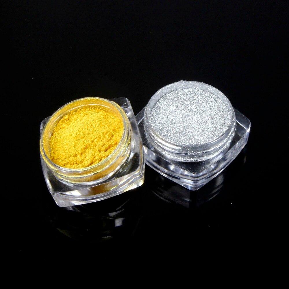 Elessical 5g metálico oro plata pigmento Brillos de uñas Manicura ...