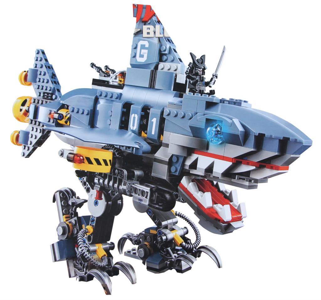 The Ninjagoe Movie Garmadon Set Big Shark Building Blocks Bricks Compatible Legoings  Building Blocks Toys Set
