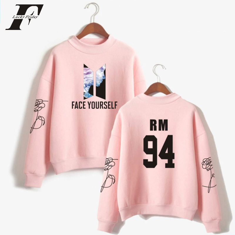 bts kpop FACE YOURSELF cotton womans hoodies and sweatshirts casual tracksuit bts blum FACE YOURSELF moletom plus size