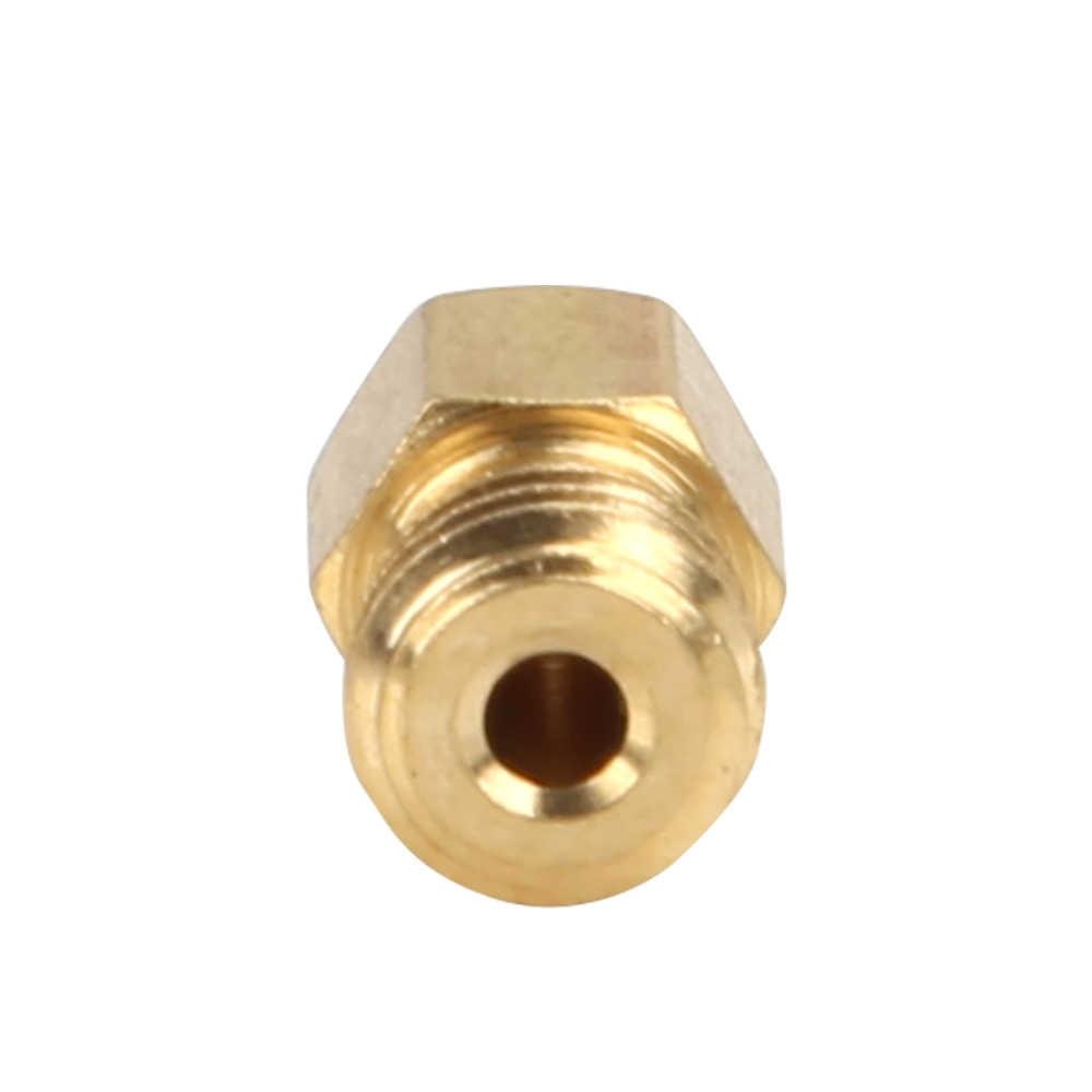 10 шт./лот латунная насадка 0,2/0,3/0,4/0,5/0,8/1,00/1,2 мм вариант Экструдер Насадка для печатающей головки 3D-принтеры часть для 1,75 мм