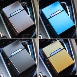 Czarne światło aluminium papieros cygaro kieszonkowe pudełko uchwyt pojemnik futerał do przechowywania