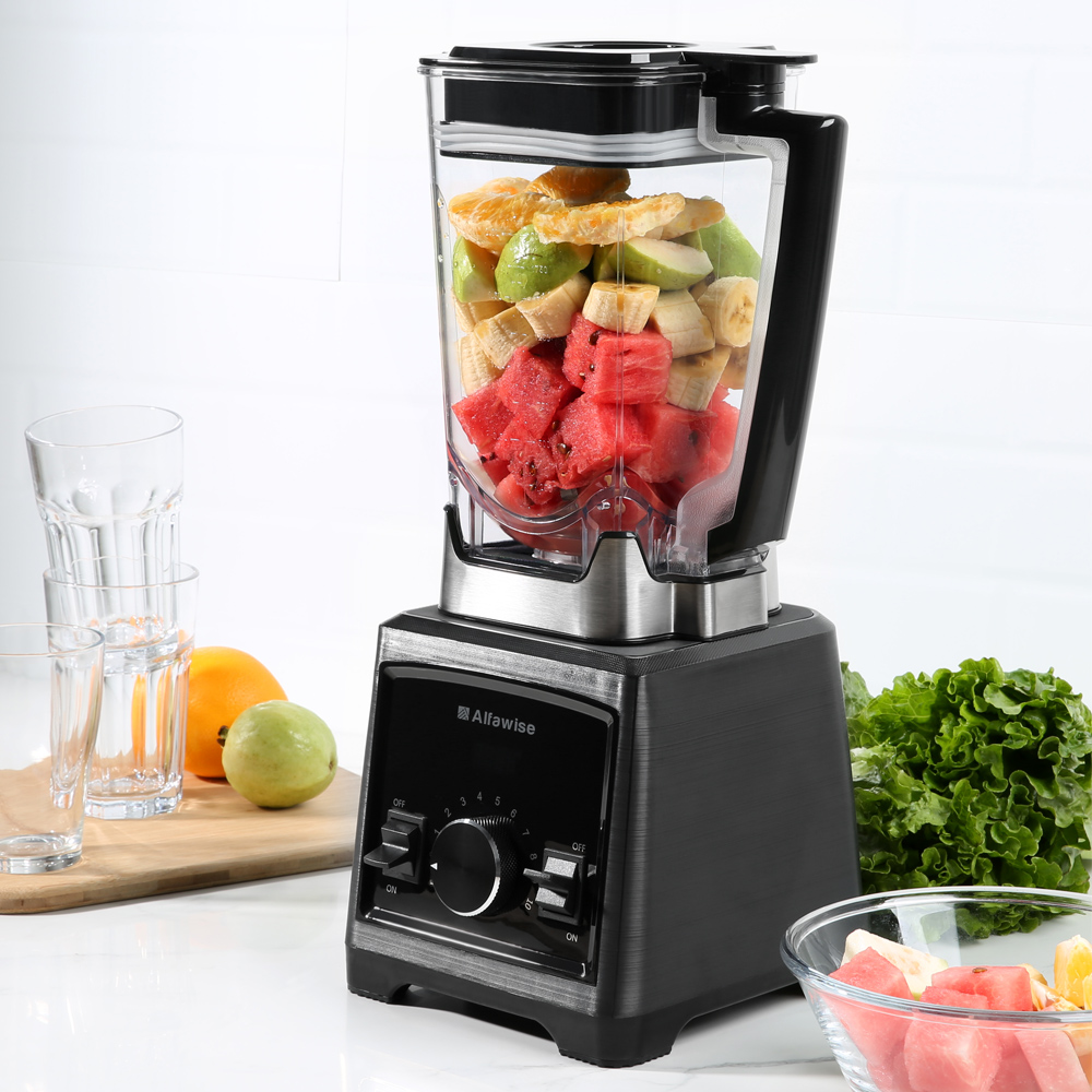 Alfawise Professional Blender 2L Mixer 30000 RPM Juicer Machine Kitchen Mixer Drink Bottle Smoothie Maker Fruit Juice Maker bpa 3 speed heavy duty commercial grade juicer fruit blender mixer 2200w 2l professional smoothies food mixer fruit processor