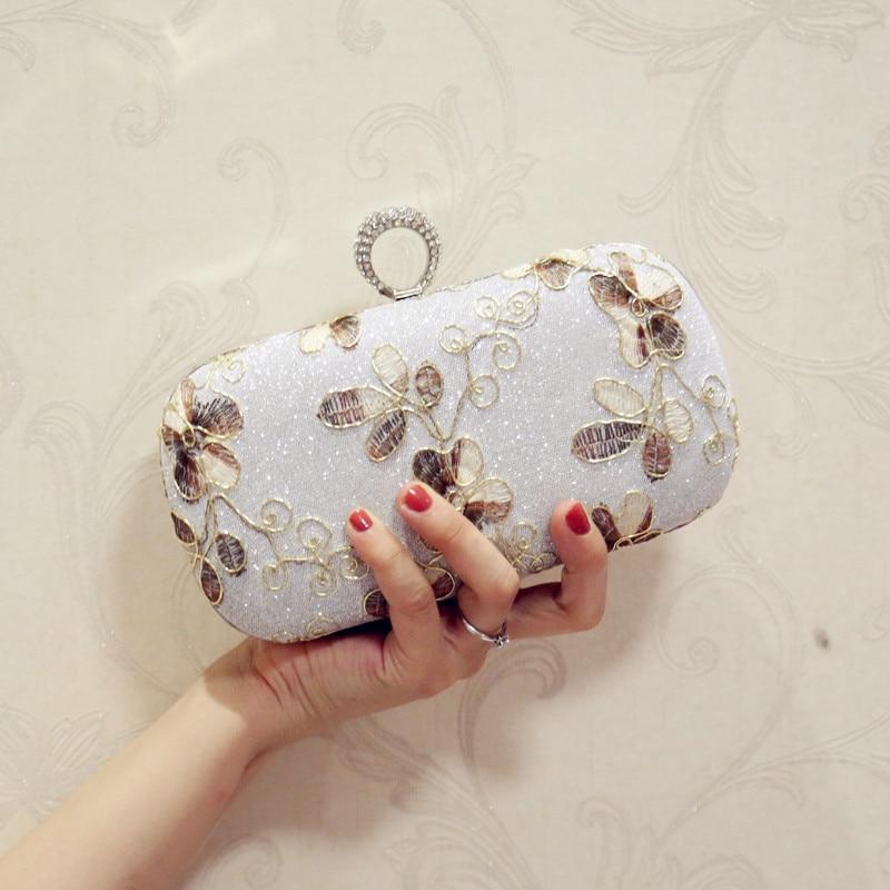 Women bag Vintage flower mini wedding handbag day clutch 2017 fashion diamond clutch evening bag cheongsam bag female bags flap