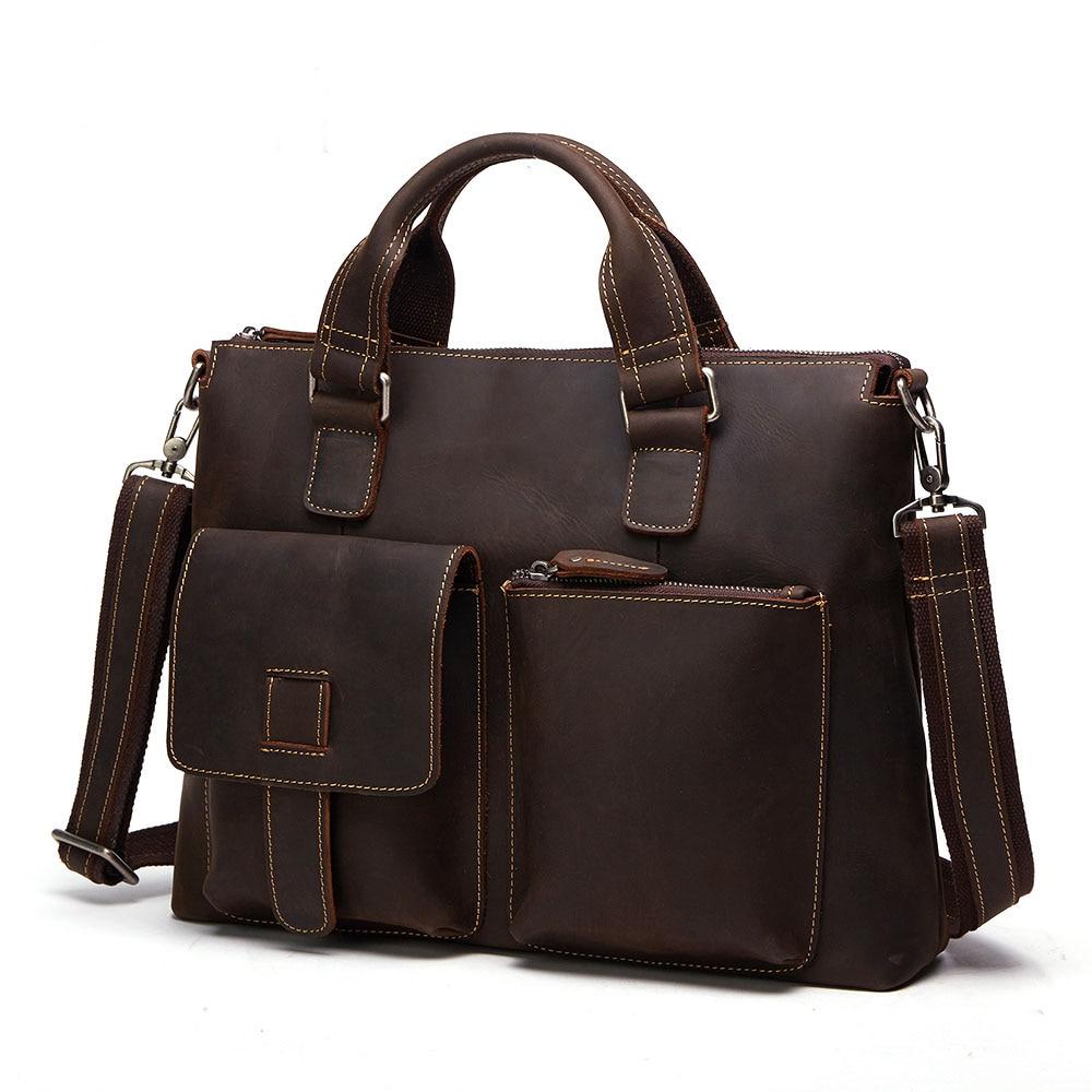 d587b89b720d 2019 Designer Laptop Bag Mens Leather Handbag Genuine Leather Men Bag  Famous Business Shoulder Bag Crossbody Travel Bag for Male-in Top-Handle  Bags from ...