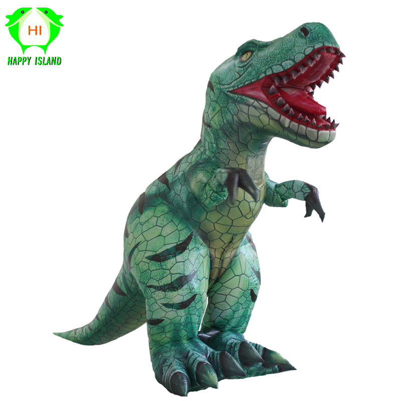 2019 New Inflatable T Rex Dinosaur Costumes T rex Adults Cosplay Costume Halloween Party Fancy Dress