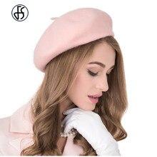 b68838a81e27b 13 Color 100% Australia Wool French Beret Hat For Women British Style Solid  Color Girl Pumpkin Hats Felt Berets Caps Boina Femme