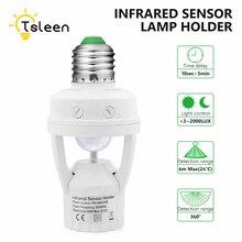 TSLEEN 1 2 4Pcs AC 220V 110V PIR Motion Sensor E27 LED