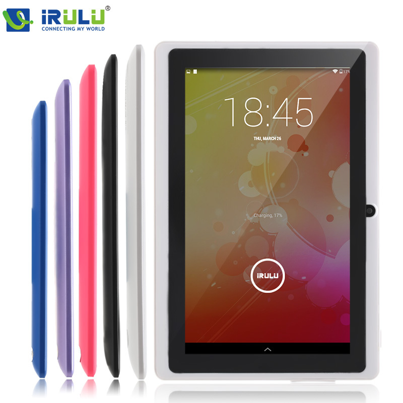 iRULU eXpro X1 7'' Tablet Allwinner Quad Core Android 4.4 Tablet 8GB ROM Dual Cameras multi color supports WiFi OTG HOT Seller irulu expro x1 7 tablet allwinner a33
