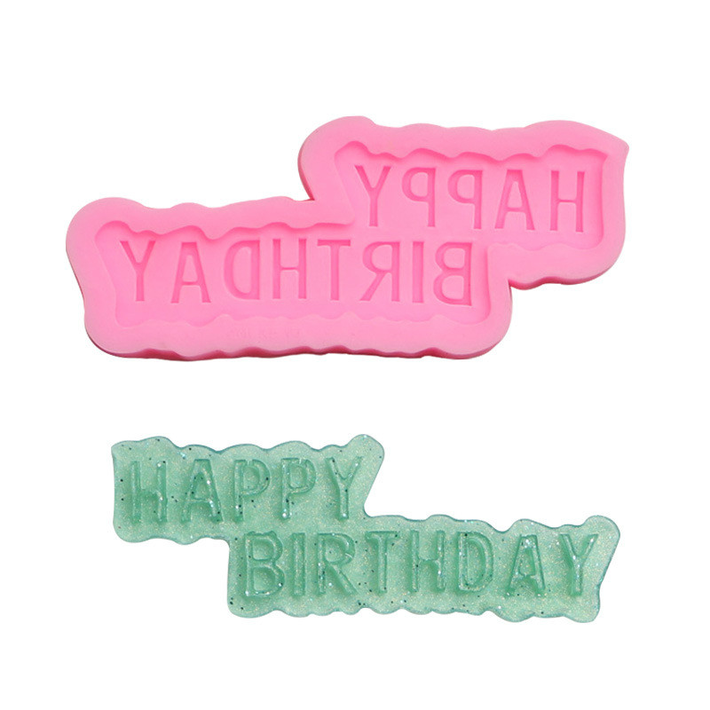 Happy birthday fondant silicone mold cake decoration chocolate (buy two get one free)
