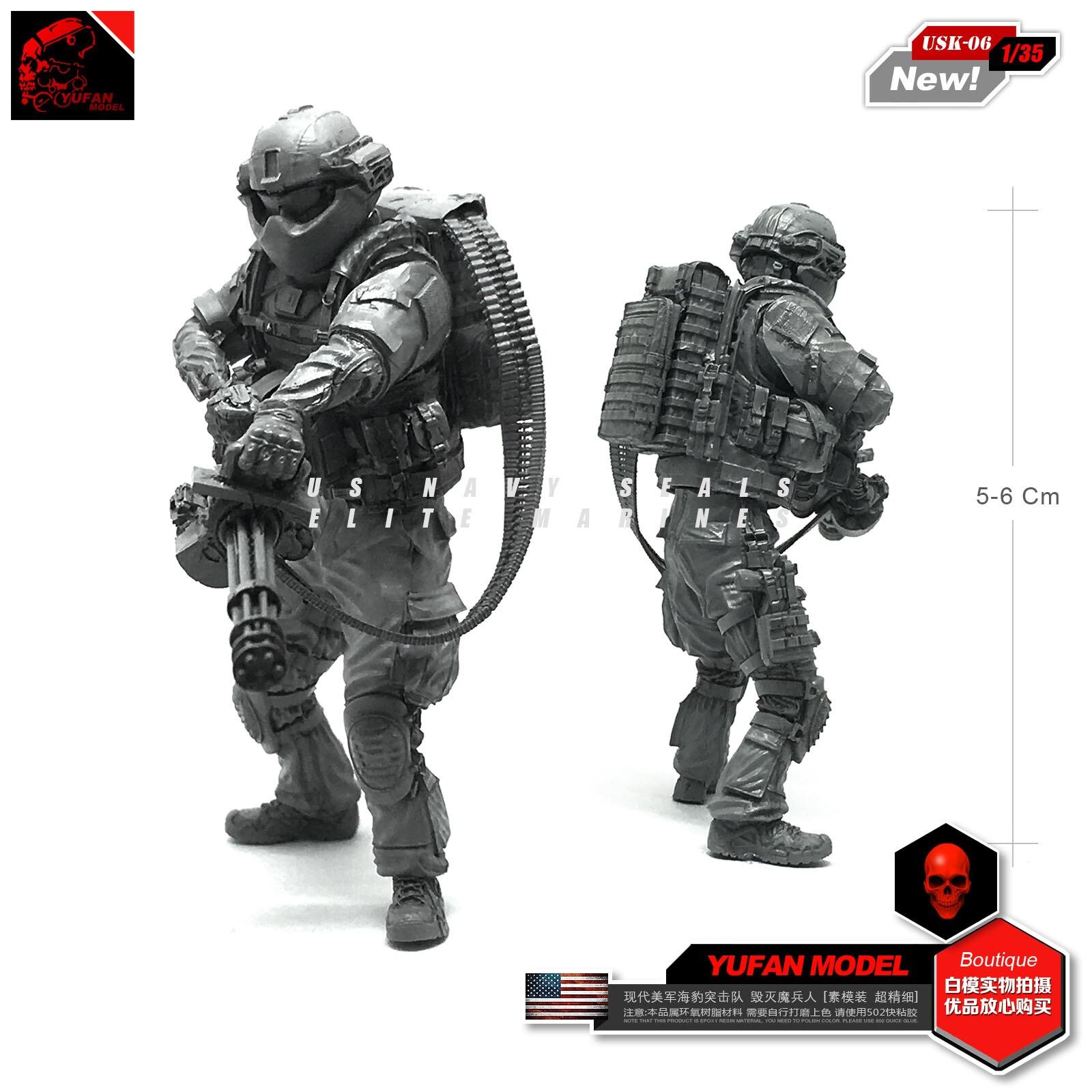 Yufan Modelo 1/35 Modern Eua Seal Destruição Guerreiro Modelo Montado Kit Usk-06