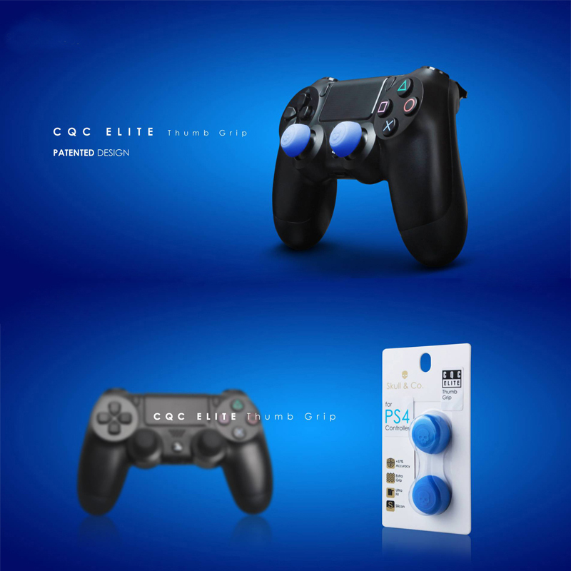 50sets per lot FPS CQC Skull Protect Cover Silicone Thumb Stick Grip Caps For PS4 Game Controllers