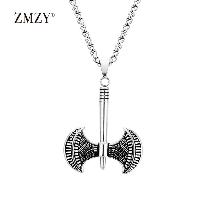 at shop pendant clap savage stainless men necklace axe steel women crimson for