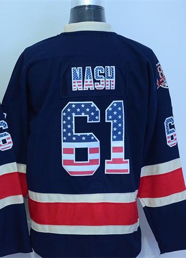 ... Mens Rick Nash Jersey New York Rangers Jersey 61 Rick Nash Hockey  Jerseys Dark Blue ... 90ac9dc4b
