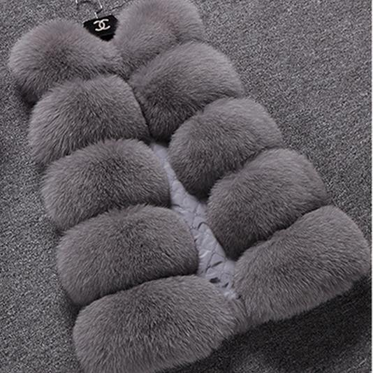 Women's Clothing Faux Fur The Cheapest Price 6xl 2018 2018 Winter Women Fur Coat Plus Size Loose Faux Fox Fur Vest Coats Sleeveless Female Winter Warm Jacket Parka Wr617