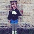 2016 Niños Del Resorte Choses Niñas Niños Niños Niños Ropa O-cuello de Manga Larga de Terry Thin Jerseys Sweater Abrigos Tops blusas