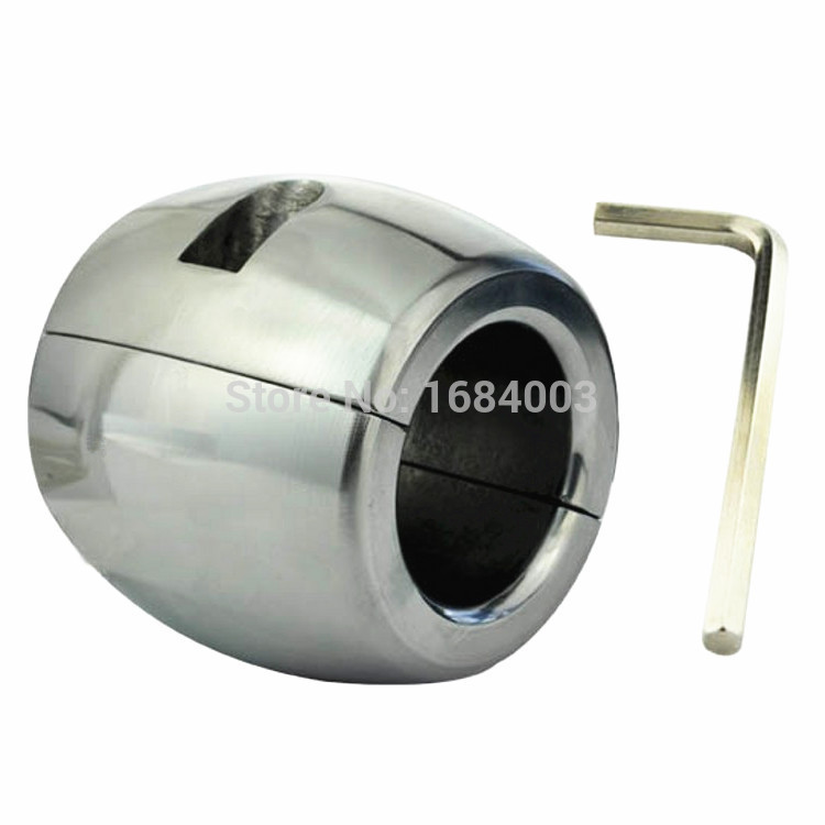 Heavy metal ball stretcher stainless steel pendant ring testicular chastity device alternative toys adult productsHeavy metal ball stretcher stainless steel pendant ring testicular chastity device alternative toys adult products