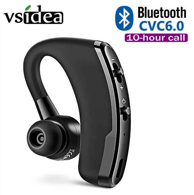 V9 Business Wireless Bluetooth Headset With Mic Voice Control Handsfree Car Bluetooth Earphone Noise Control for Driver Sport