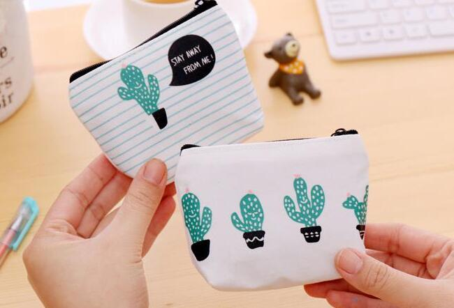 CACTUS PURSE COIN CUTE GIRLS WALLET POUCH HOLDER BIRTHDAY GIFT PARTY BAG FILLER