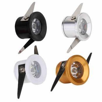 Silvery/Black/White/Golden Mini LED Downlight 1W Jewelry Display Ceiling Recessed Lamp 100V-240V Minidownlights