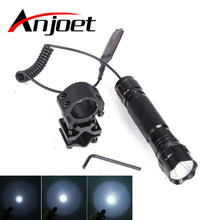 Anjoet Tactical Flashlight XM-T6 LED Torch 1 Mode 5-Mode Light lanterna lampe For 18650 Battery Remote Pressure Switch Gun Mount