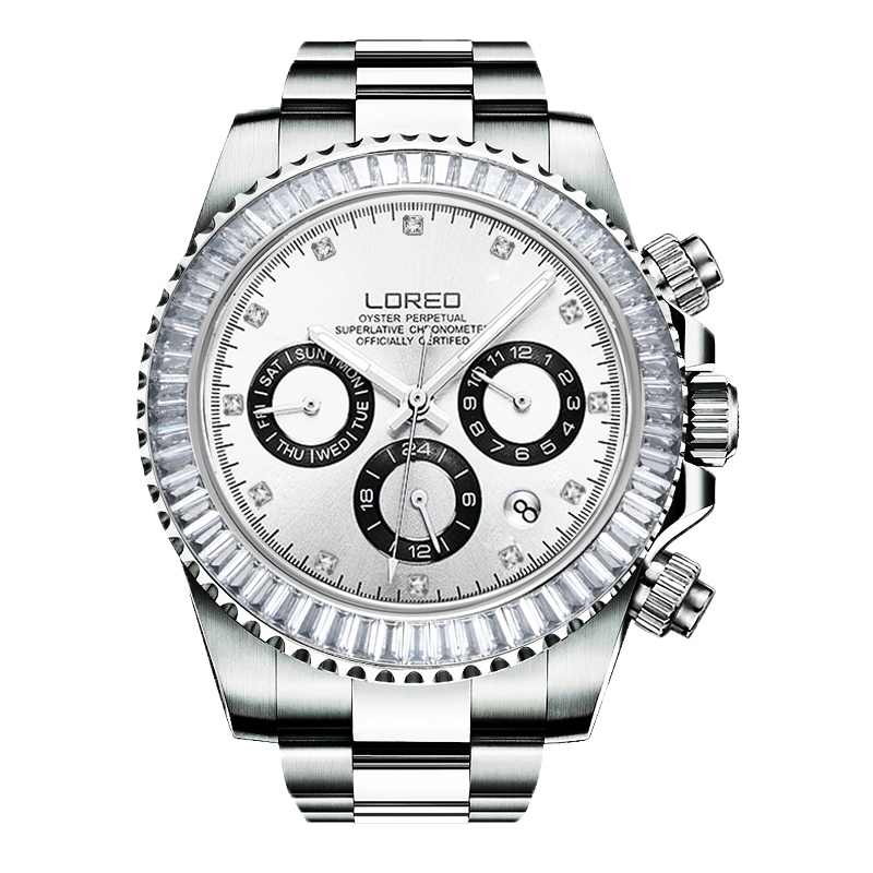 LOREO allemagne montres hommes automatique auto-vent autrichien diamant huître perpétuel cosmographe daytona relogio masculino 116503